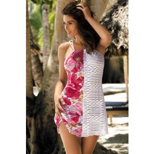 Paplūdimio apranga Tunika Jenna Milk Shake-Bianco M-416