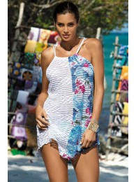 Paplūdimio apranga  Tunika Jenna Oltremare-Bianco M-416